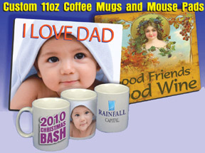 Custom Coffee Mugs ,Mouse Pads,T shirts - CUSTOM MADE ITEMS